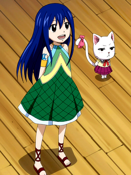Fairy tail wendy marvell touching