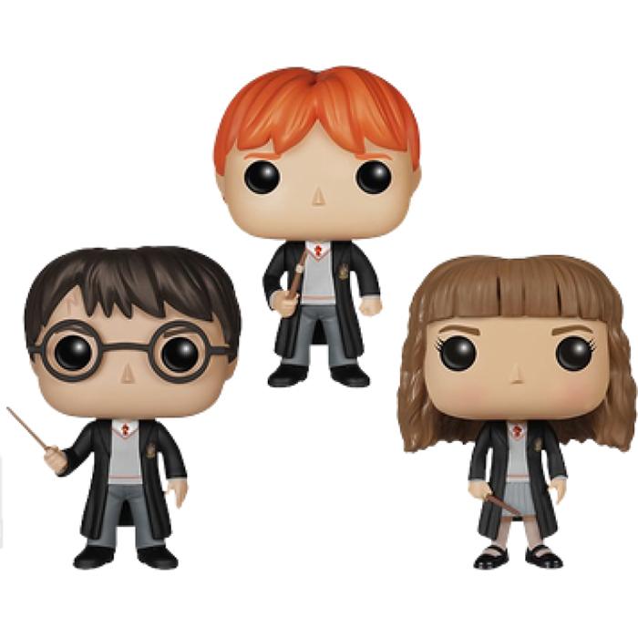 Figurines Harry Ron Et Hermione Harry Potter Funko Pop