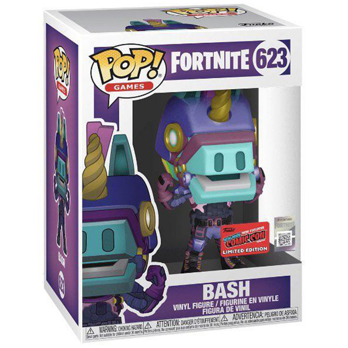 Figurine Funko Pop Bash glows in the dark (Fortnite) dans sa boîte
